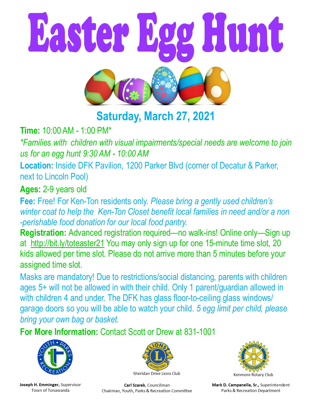 Easter Egg Hunt Flyer 2021 updated 2 25